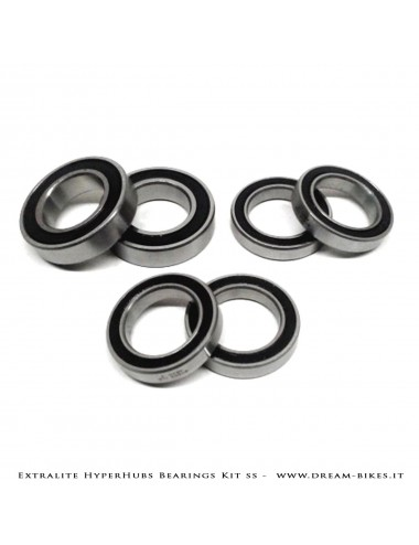 Extralite HyperHubs Enduro ABEC5 Stainless Bearings Kit Front+Rear