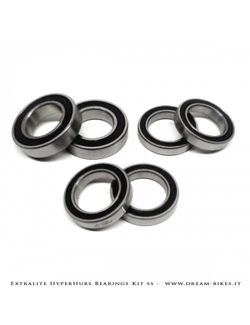Extralite HyperHubs Enduro ABEC5 Stainless Bearings Kit Front+Rear