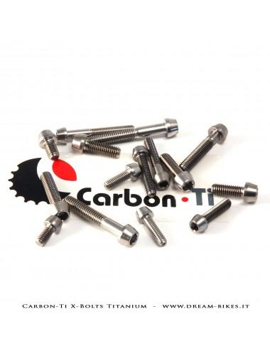 Carbon-Ti X-Bolts Titanium Viti in Titanio a Testa Conica Cava Esagonale TCCE