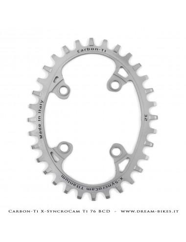 Carbon-Ti X-SyncroCam Ti BCD 76 mm Asymmetric Titanium Monoring