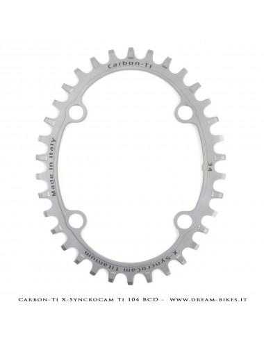 Carbon-Ti X-SyncroCam Ti BCD 104 mm Monocorona 34T Asimmetrica in Titanio