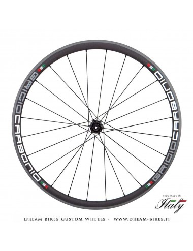 Ultralight Road Carbon Tubular Wheels 28 x 24.5 mm GriogioCarbonio, Carbon-Ti, Alpina Weights From 895 gr.