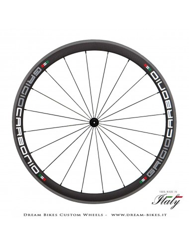Ultralight Road Carbon Tubular Wheels 38 x 25 mm GriogioCarbonio, Carbon-Ti, Alpina Weights From 950 gr.