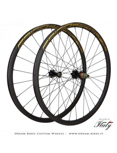 """Dream Bikes Kilo ruote custom 29"""" GrigioCarbonio-Extralite-Alpina da 990 gr. le più leggere al mondo!"""