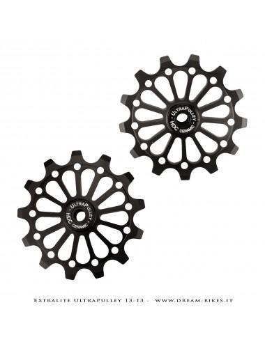 Extralite UltraPulley 13-13 Ultralight 13 Teeth Rear Derailleur Jockey Wheels For Shimano 12s