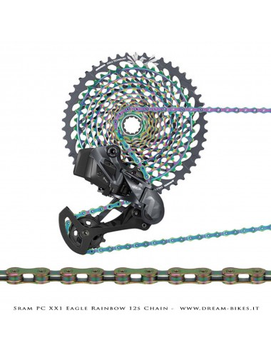 Sram Catena PC XX1 Eagle Rainbow 12v