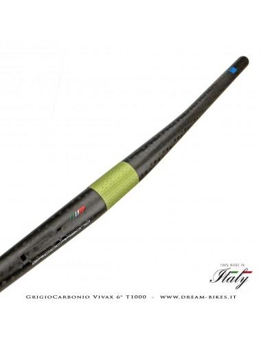 GrigioCarbonio Vivax Flat 6° T1000 12K Curva Manubrio Carbon Ultraleggera