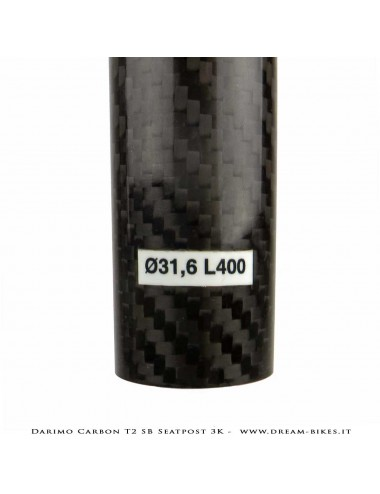 Darimo Carbon T2 SB Reggisella Arretrato Ultraleggero -25 mm
