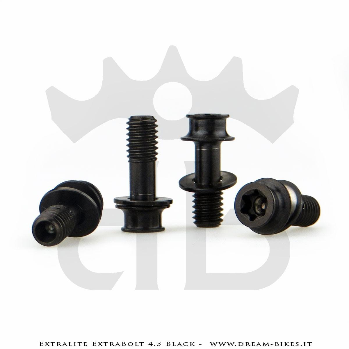 Extralite ExtraBolt 4.5 Brake Caliper Titanium Bolts Black