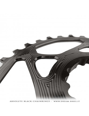 Absolute Black corona monoring alluminio ultraleggera cannondale hollowgram direct mount 32t nera