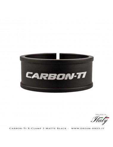 Carbon-Ti X-Clamp 3 Collarino Reggisella Ultraleggero Nero Opaco