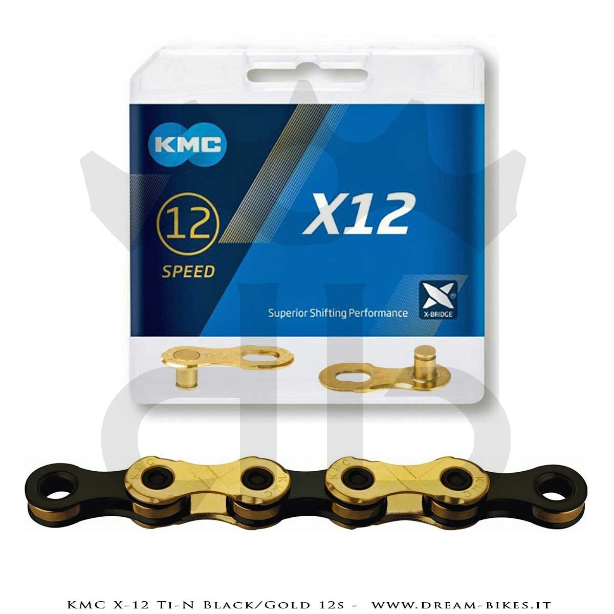 KMC X-12 Ti-N GOLD/BLACK CATENA 12V 268 Gr.