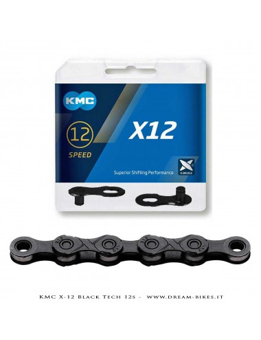 KMC X-12 BLACK TECH 12S CHAIN 268 Gr.
