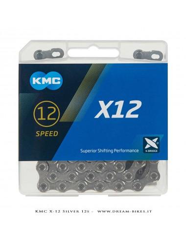 KMC X-12 SILVER CATENA 12V 268 Gr.
