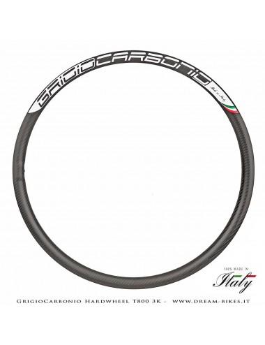 """GrigioCarbonio HardWheel AS25 Cerchio Carbon 29"""" T800 3K 315 gr."""