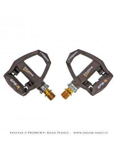 Exustar E-PR200CKTi Pedali Carbon-Titanio Ultraleggeri 186 gr.