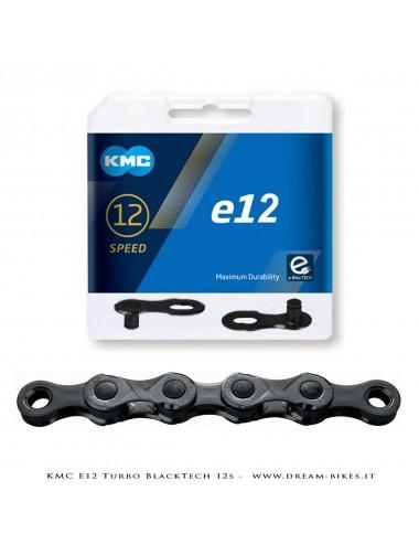 KMC e12 Turbo BlackTech 12s Chain For E-Bikes 272 Gr.