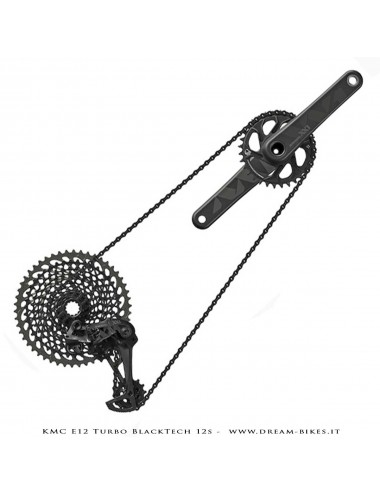 KMC e12 Turbo BlackTech Catena 12v Per E-Bike 272 Gr.