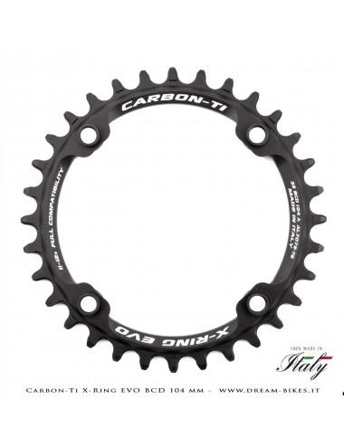 Carbon-Ti X-Ring Evo BCD 104 mm Ultralight Aluminium Mono-Ring