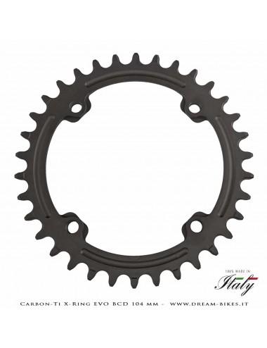 Carbon-Ti X-Ring Evo BCD 104 mm Mono-Corona Ultraleggera In Alluminio