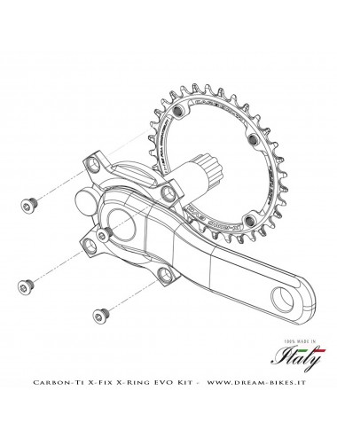 Carbon-Ti X-Fix X-Ring EVO Kit Bussole Corona Ultraleggere