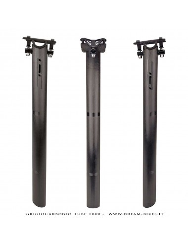 GrigioCarbonio Tube T800 Cannotto Reggisella Carbon Ultraleggero 3K o UD
