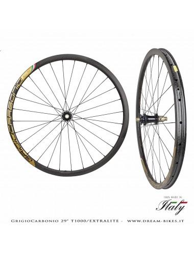 """GrigioCarbonio Ruote 29"""" AS26 T1000 Extralite - 990 gr."""