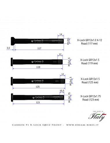 Carbon-Ti X-Lock QR12 Perno Passante Ruota Anteriore Strada