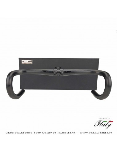 GrigioCarbonio Curva Manubrio Strada T800 Compact da 145 gr.