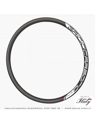"""GrigioCarbonio HardWheel AS30 Cerchio Carbon 29"""" T800 3K 330 gr."""