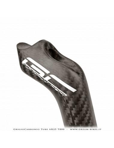 GrigioCarbonio Tube AR25 T800 Cannotto Reggisella Carbon Arretrato Offset 25 mm