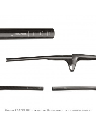 Gemini PRÖPUS  Manubrio Carbon Integrato MTB XC Ultraleggero Da 149 gr.