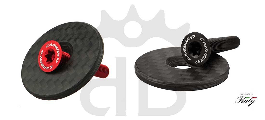 Carbon-Ti X-Cap Carbon Matte Tappo Sterzo Ultraleggero
