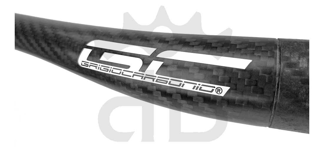GrigioCarbonio Vivax Flat 6° T800 Curva Manubrio Carbon Ultraleggera 3K o UD